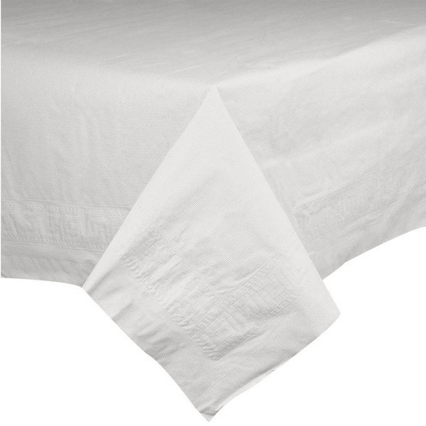 Hoffmaster 210086 82 inch x 82 inch White Cellutex Tissue / Poly Paper Table Cover - 25/Case