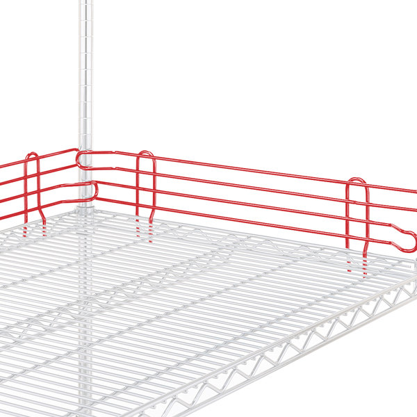 "Metro L18N-4-DF Super Erecta Flame Red Stackable Ledge 18"" x 4"""