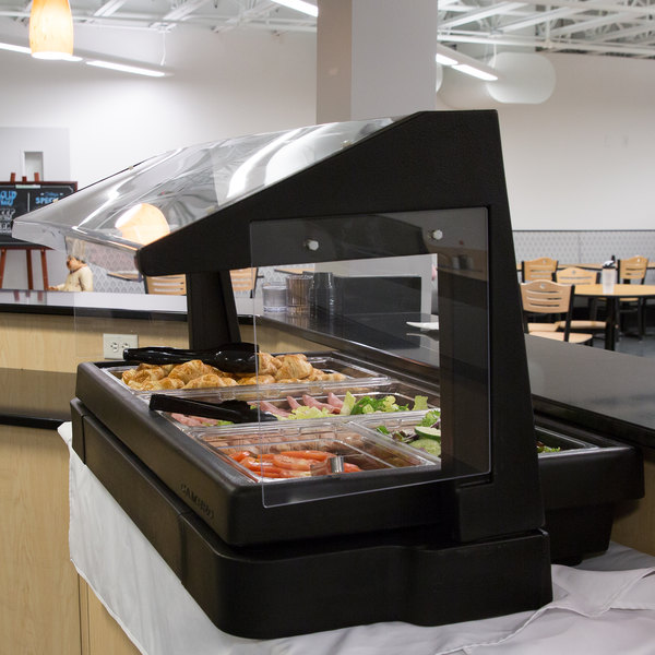 """Black Cambro BBR720110 73/"""" Table Top Buffet Bar With Sneeze Guard"""