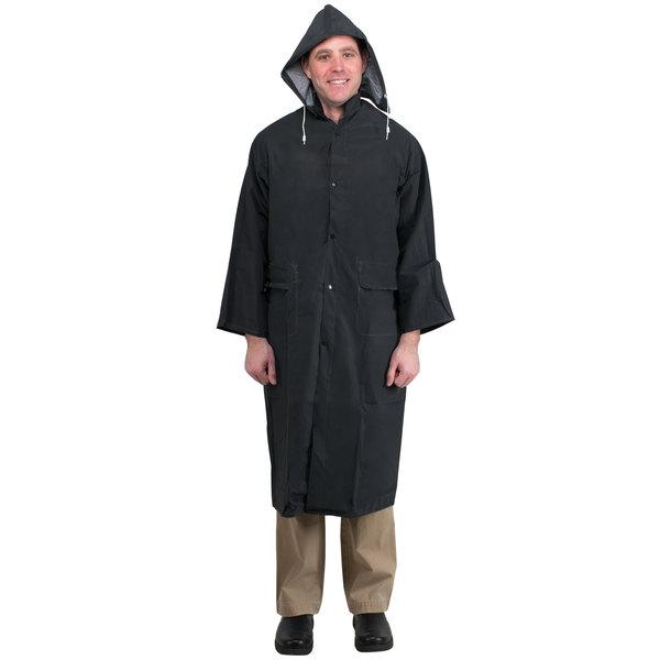"""Black 2 Piece Rain Coat 49"""" - XXL"""