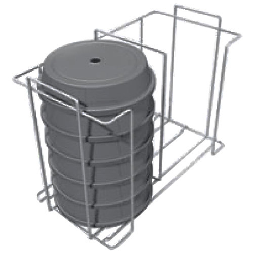 Metro MBQ-C2-14 Covered Plate Carrier / Rack for Two Door Banquet Cabinets Holds 10 Plates