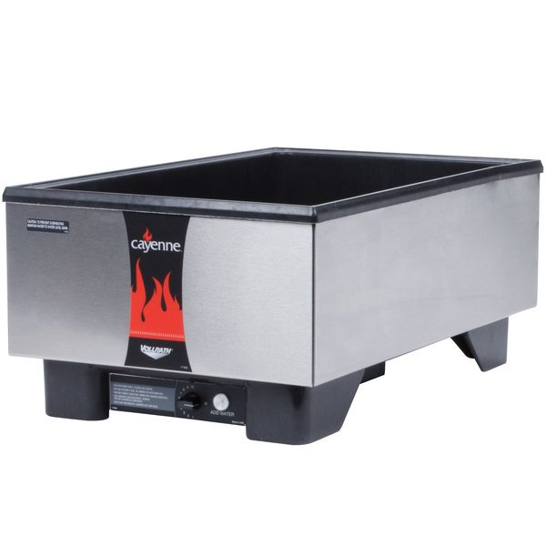Vollrath 71001 Cayenne Full Size Countertop Warmer with Stainless Steel Exterior - 120V, 700W Main Image 1