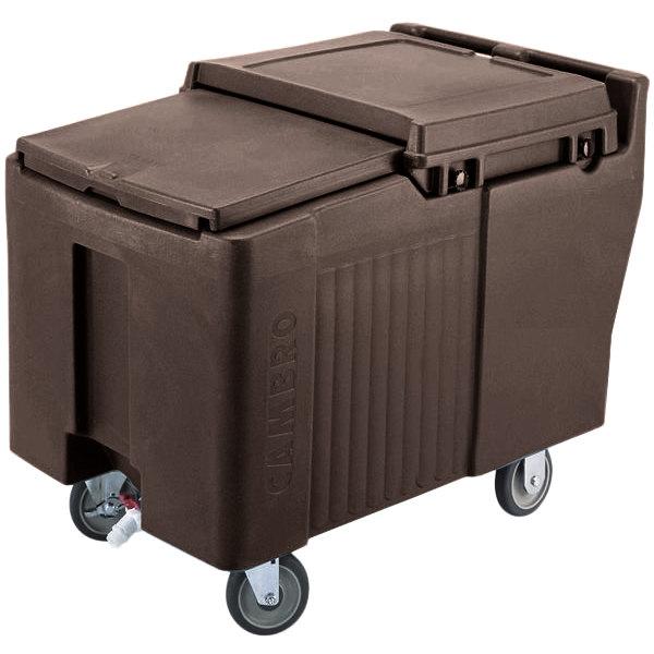 Cambro ICS175L131 SlidingLid™ Dark Brown Portable Ice Bin - 175 lb. Capacity