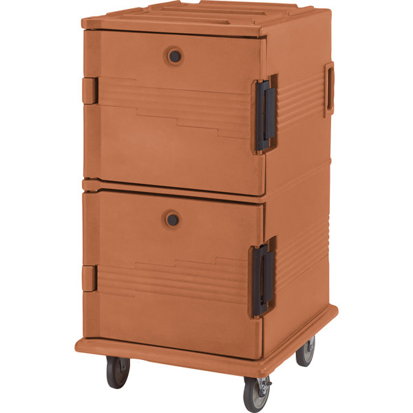 Cambro UPC1600SP157 Coffee Beige Camcart Ultra Pan Carrier - Front Load Tamper Resistant