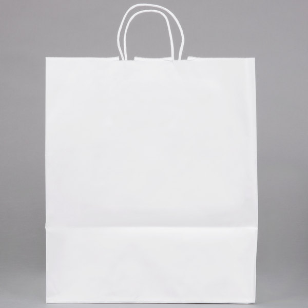Duro Super Royal White Paper Ping Bag With Handles 14 X 10 15 3 4 200 Bundle