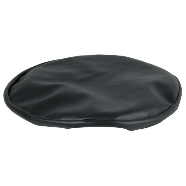 Bar Stool Cover Elastic SLIP ON Black Vinyl Replacement Vinyl Faux Leather Top