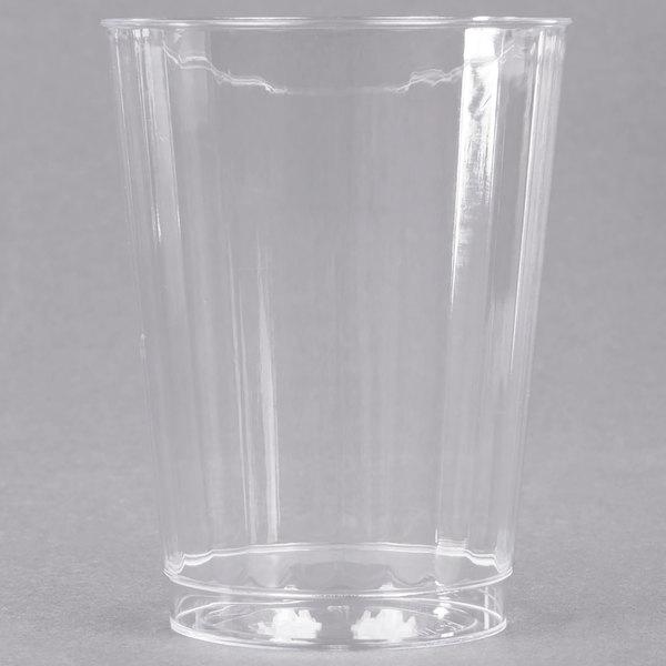 WNA Comet CC10240 Classicware 10 oz. Tall Clear Plastic Fluted Tumbler - 240/Case