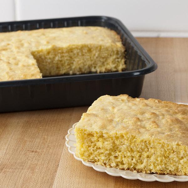 Genpak 55388 Bake 'N Show Dual Ovenable Square Brownie / Cake Pan with Lid - 10/Pack