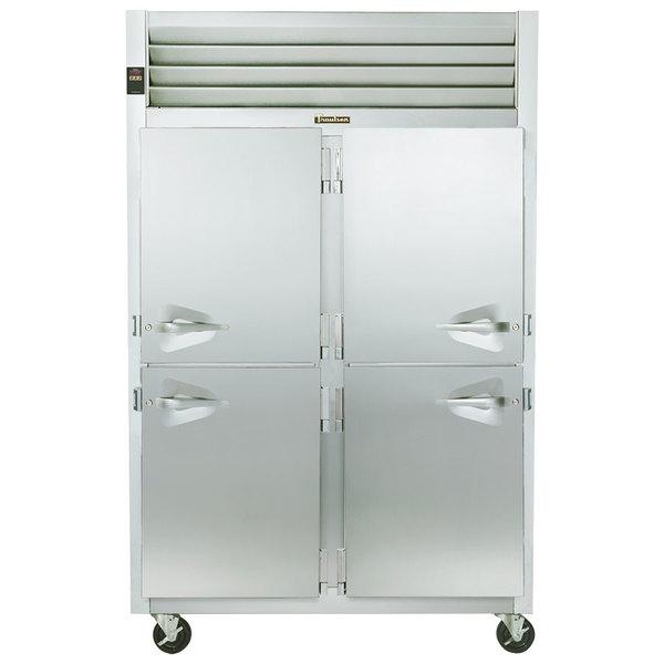 Traulsen G22001 2 Section Half Door Reach In Freezer - Right / Left Hinged Doors Main Image 1