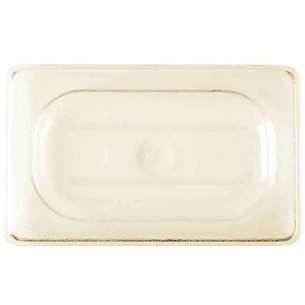 Cambro 90HPC150 H-Pan™ 1/9 Size Amber High Heat Flat Lid Main Image 1