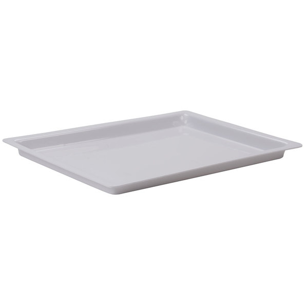 "Cal-Mil 325-13-15 13"" x 18"" Shallow White Bakery Tray Main Image 1"