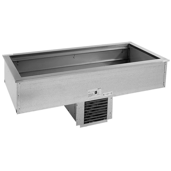 Delfield N8168NB Narrow Three Pan Drop In Refrigerated Cold Food Well