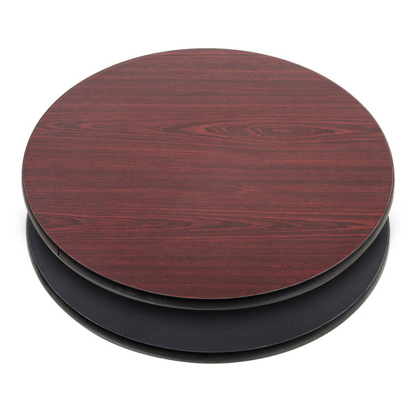 Wondrous Lancaster Table Seating 30 Laminated Round Table Top Reversible Cherry Black Andrewgaddart Wooden Chair Designs For Living Room Andrewgaddartcom