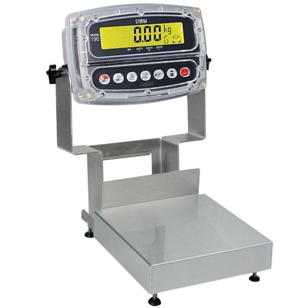 "Cardinal Detecto CA12-120-190 120 lb. Receiving Scale with 12 5/8"" x 12 5/8"" Platform"