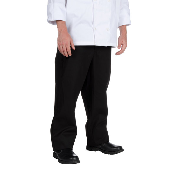 Chef Revival P034BK Size XL Black Chef Trousers - Poly-Cotton