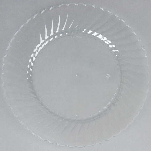 WNA Comet CW10144 Classicware 10 1/4 inch Clear Plastic Plate - 144/Case