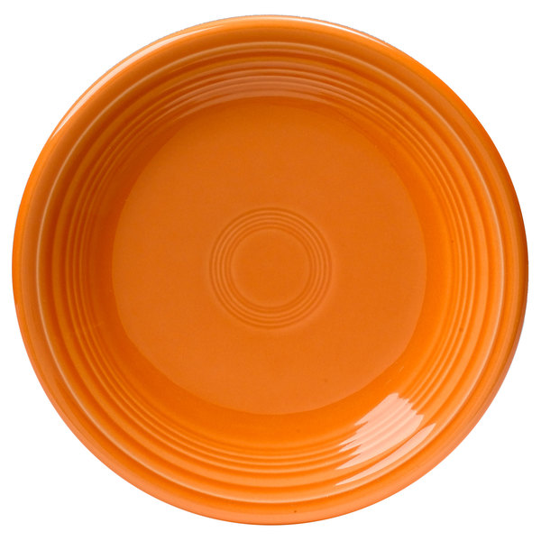 "Homer Laughlin 464325 Fiesta Tangerine 7 1/4"" Salad Plate - 12/Case"