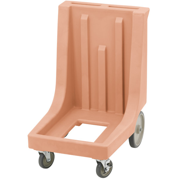 Cambro CD300HB Coffee Beige Camdolly for Cambro Camcarriers and Camtainers with Handle & Rear Easy Wheels Main Image 1