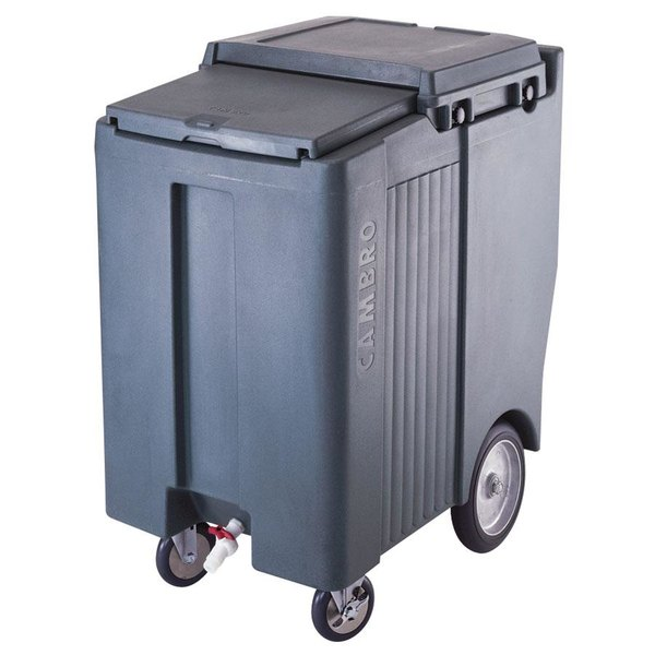 Cambro ICS200TB401 SlidingLid™ Slate Blue Portable Ice Bin - 200 lb. Capacity Tall Model Main Image 1