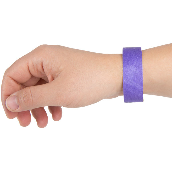 "3/4"" x 10"" Purple Disposable Tyvek® Wristband - 1000/Box Main Image 6"