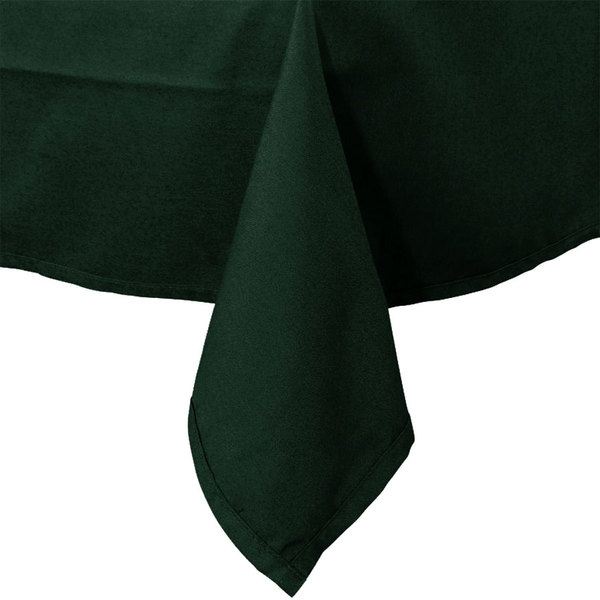 """45"""" x 120"""" Forest Green Hemmed Polyspun Cloth Table Cover"""