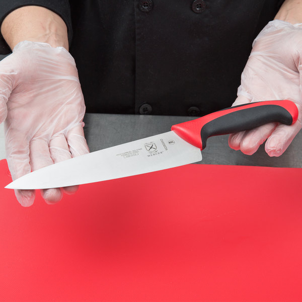 """Mercer Culinary M22608RD Millennia® 8"""" Chef Knife with Red Handle Main Image 2"""