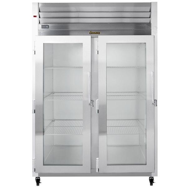 Traulsen G21013 2 Section Glass Door Reach In Refrigerator - Left / Left Hinged Doors Main Image 1