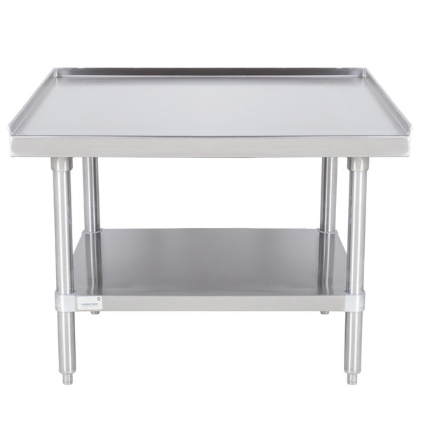 """Advance Tabco ES-243 24"""" x 36"""" Stainless Steel Equipment Stand with Stainless Steel Undershelf"""