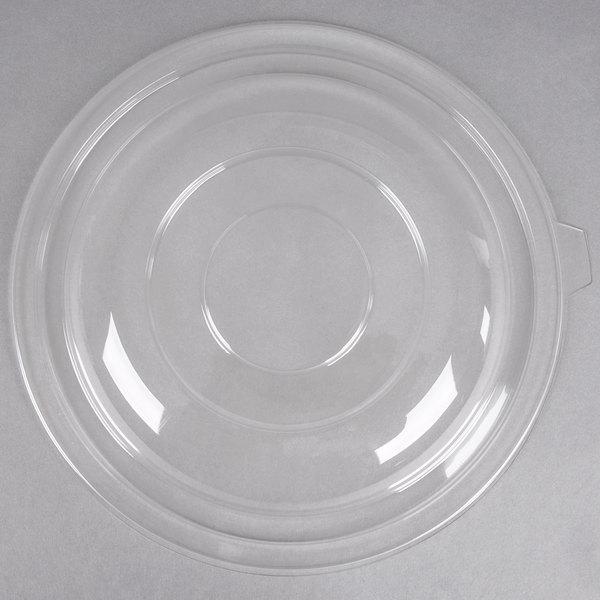 Fineline 5320-L Super Bowl Clear PET Plastic Dome Lid for 320 oz. Bowls  - 25/Case