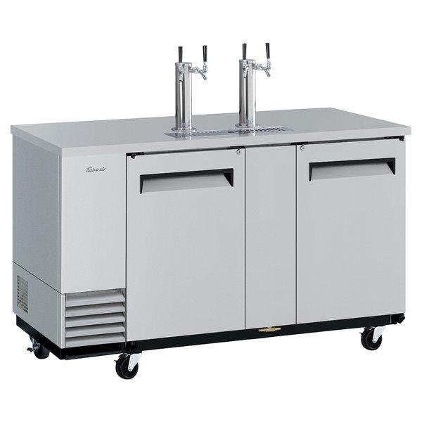 Turbo Air TBD-3SD-N (2) Double Tap Kegerator Beer Dispenser - Stainless Steel, (3) 1/2 Keg Capacity Main Image 1