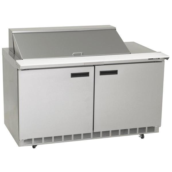 "Delfield 4464N-18M 64"" 2 Door Mega Top Refrigerated Sandwich Prep Table"