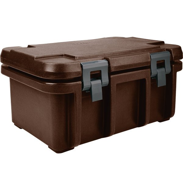 """Cambro UPC180131 Dark Brown Camcarrier Ultra Pan Carrier - Top Load for 12"""" x 20"""" Food Pan"""