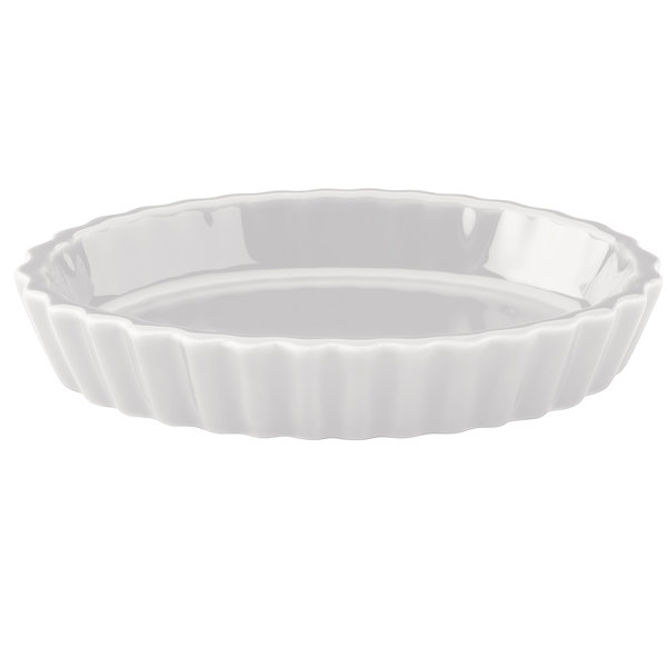Hall China 8530ABWA Bright White 6.5 oz. Fluted Souffle / Creme Brulee Dish - 24/Case