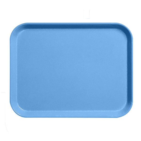 """Cambro 1216CL142 12"""" x 16"""" Blue Camlite Tray - 12/Case"""