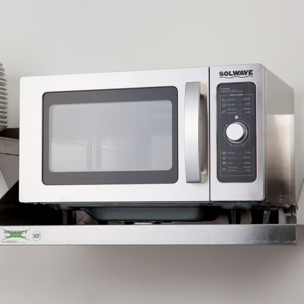 1000w Solwave Stainless Steel Commercial Microwave With Dial Control 120v