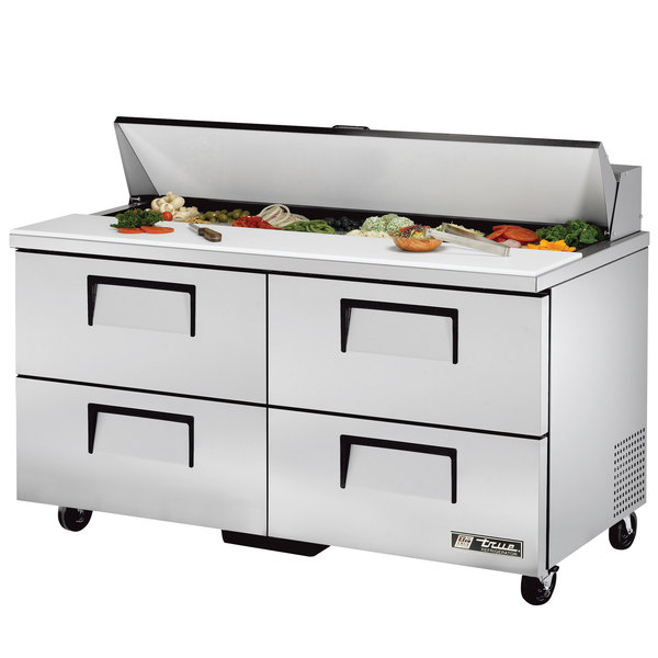 True TSSU-60-16D-4 60 inch 4 Drawer Refrigerated Sandwich Prep Table
