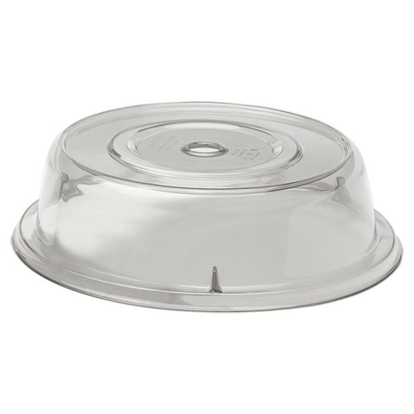 """Cambro 905CW152 Camwear Camcover 9 1/2"""" Clear Plate Cover - 12/Case"""