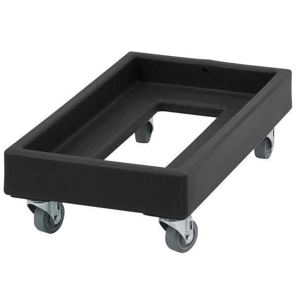 Cambro CD1327110 300 lb. Black Camdolly Milk Crate Dolly Main Image 1
