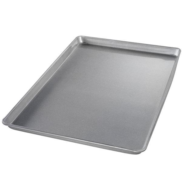 "Chicago Metallic 41555 Full Size 22 Gauge Glazed Aluminized Steel Customizable Sheet Pan - Wire in Rim, 18"" x 26"""