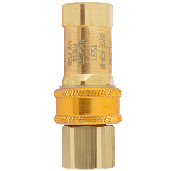 """T&S AG-5C Safe-T-Link 1/2"""" NPT Quick Disconnect Gas Hose Component"""