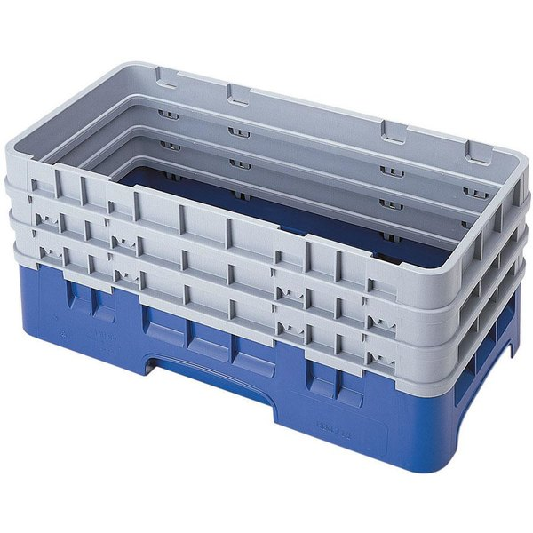 Cambro HBR712186 Navy Blue Camrack Half Size Open Base Rack with 3 Extenders Main Image 1