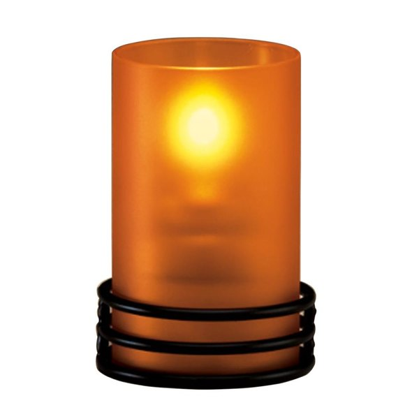 Sterno Products 85280 Orange Frost Cylinder Globe
