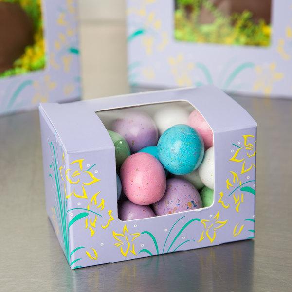 "Easter Egg Box 1/4 lb. Window Candy Box 3 5/8"" x 2 3/8"" x 2 3/8"" - 250/Case Main Image 4"
