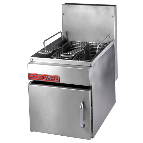 Cecilware GF-16 Natural Gas 18 lb. Countertop Fryer with Baskets