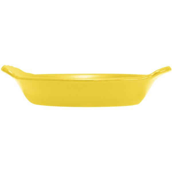 Hall China 30433320 Sunflower 8 oz. Colorations Round Au Gratin Baking Dish - 24/Case