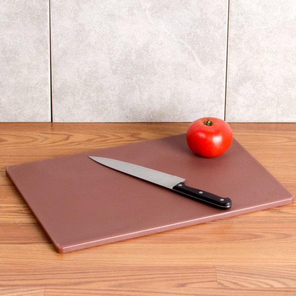 """12"""" x 18"""" x 1/2"""" Brown Cutting Board"""
