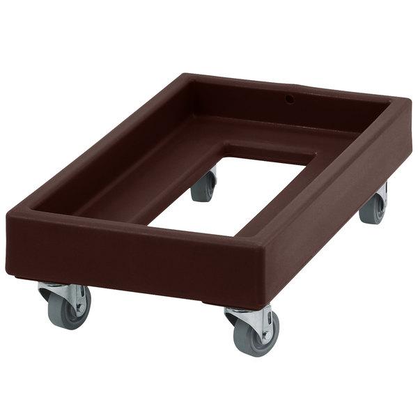 Cambro CD1327131 300 lb. Dark Brown Camdolly Milk Crate Dolly