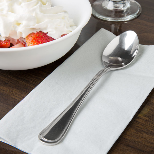 Regal Flatware Stainless Steel Dessert Spoon - 12/Case