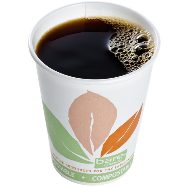Bare by Solo 378PLA-J7234 Eco-Forward 8 oz. Paper Hot Cup - 1000/Case Main Image 2