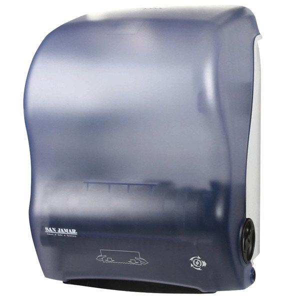 San Jamar T7000TBL Simplicity Hands Free Roll Towel Dispenser - Arctic Blue